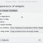KDE Widget Style Settings
